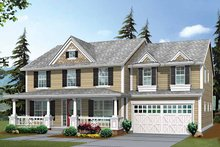 Architectural House Design - Country Exterior - Front Elevation Plan #132-438