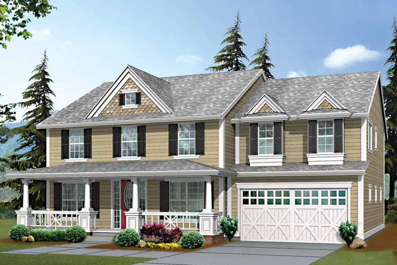 Country Exterior - Front Elevation Plan #132-438 - Houseplans.com