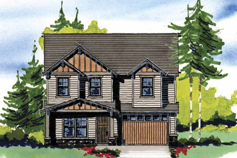 Prairie Exterior - Front Elevation Plan #509-193 - Houseplans.com
