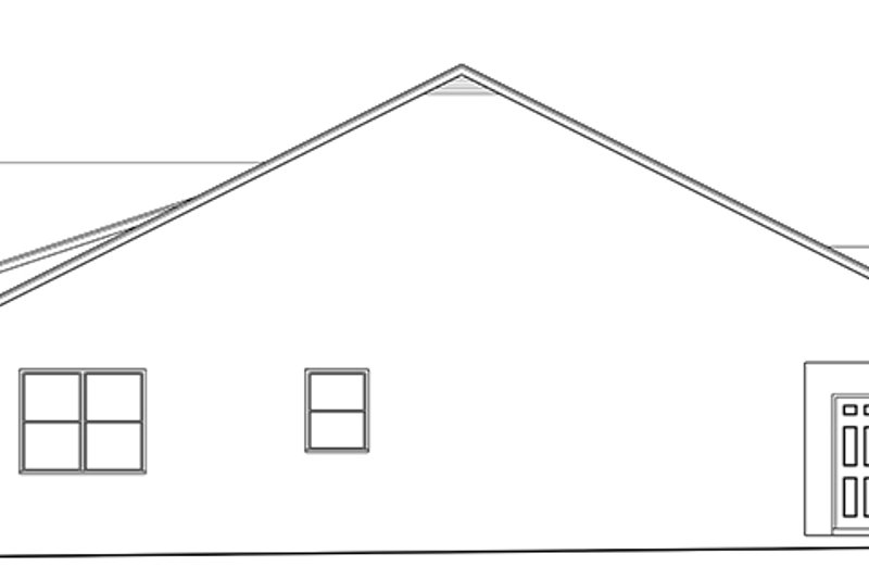 Ranch Exterior - Other Elevation Plan #1058-140 - Houseplans.com