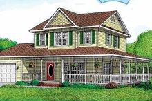 Victorian Exterior - Front Elevation Plan #11-237