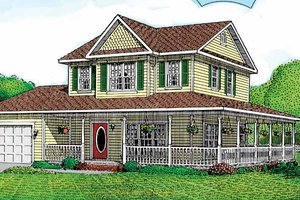 Victorian Exterior - Front Elevation Plan #11-237
