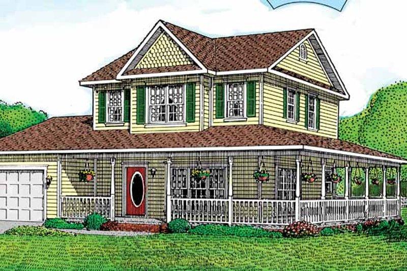 House Plan Design - Victorian Exterior - Front Elevation Plan #11-237