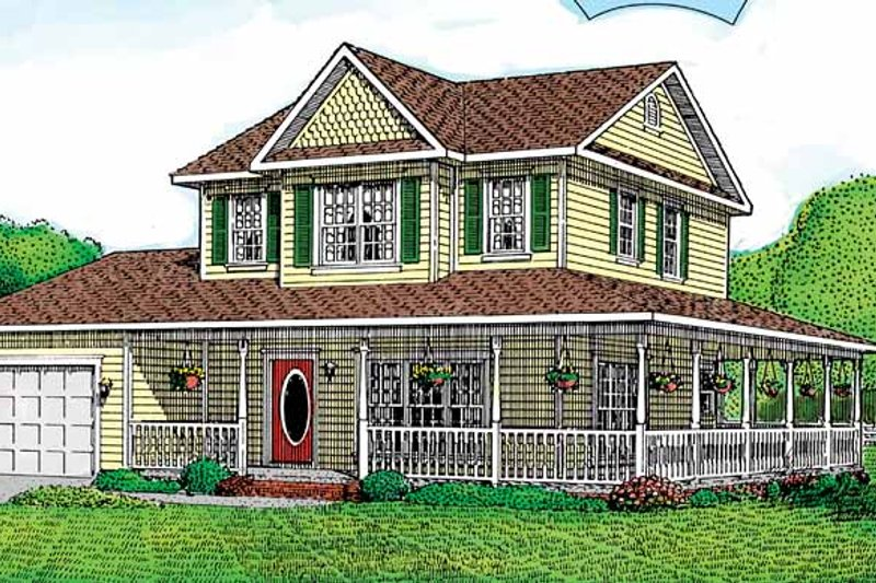 House Design - Victorian Exterior - Front Elevation Plan #11-237