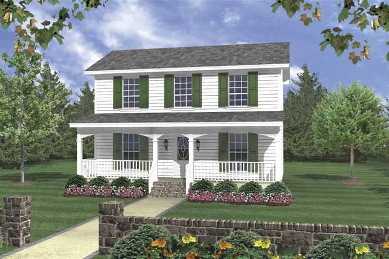 House Plan Design - Traditional Exterior - Front Elevation Plan #21-420