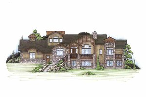 Craftsman Exterior - Front Elevation Plan #945-112