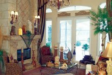 Mediterranean Interior - Family Room Plan #417-748