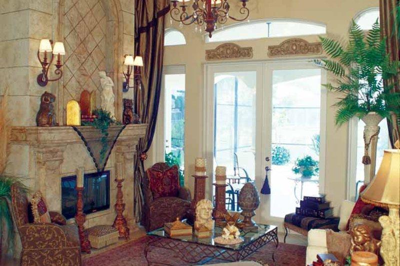 Mediterranean Interior - Family Room Plan #417-748 - Houseplans.com