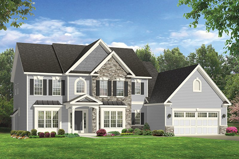 Architectural House Design - Colonial Exterior - Front Elevation Plan #1010-169