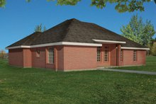 Dream House Plan - Ranch Exterior - Rear Elevation Plan #1061-14