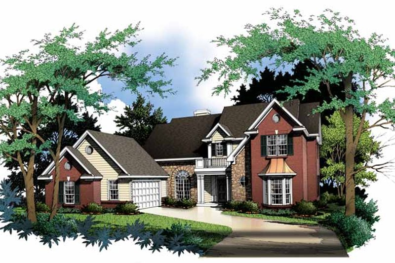 Traditional Exterior - Front Elevation Plan #952-4
