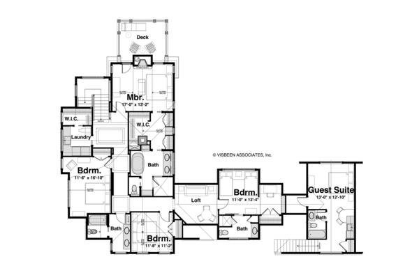 House Plan Design - Craftsman Floor Plan - Upper Floor Plan #928-185