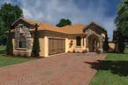 Mediterranean Style House Plan - 2 Beds 2.5 Baths 1790 Sq/Ft Plan #930-431 Exterior - Front Elevation