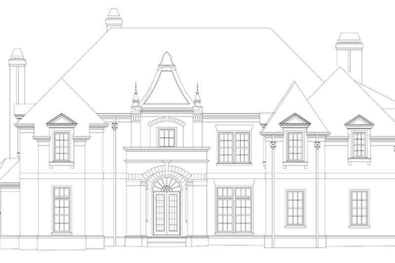 European Exterior - Front Elevation Plan #119-419 - Houseplans.com