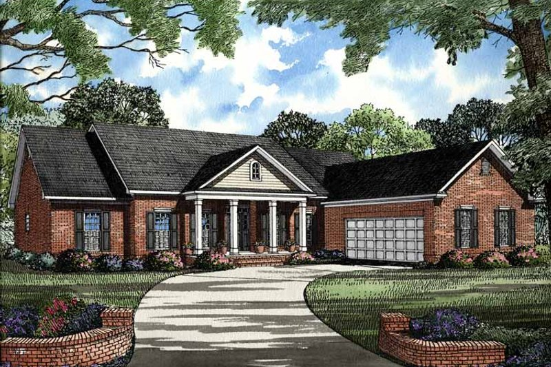 Ranch Exterior - Front Elevation Plan #17-2790