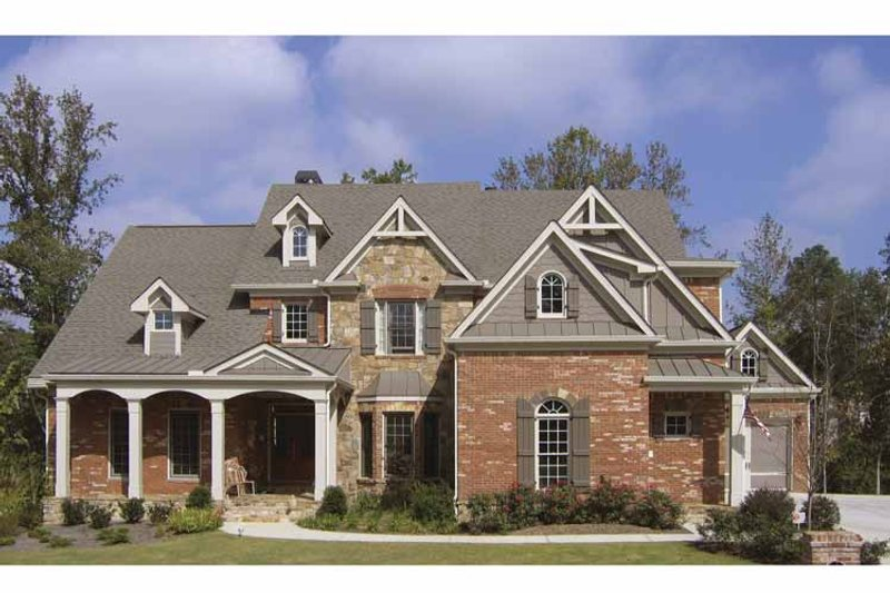 Traditional Exterior - Front Elevation Plan #54-330 - Houseplans.com