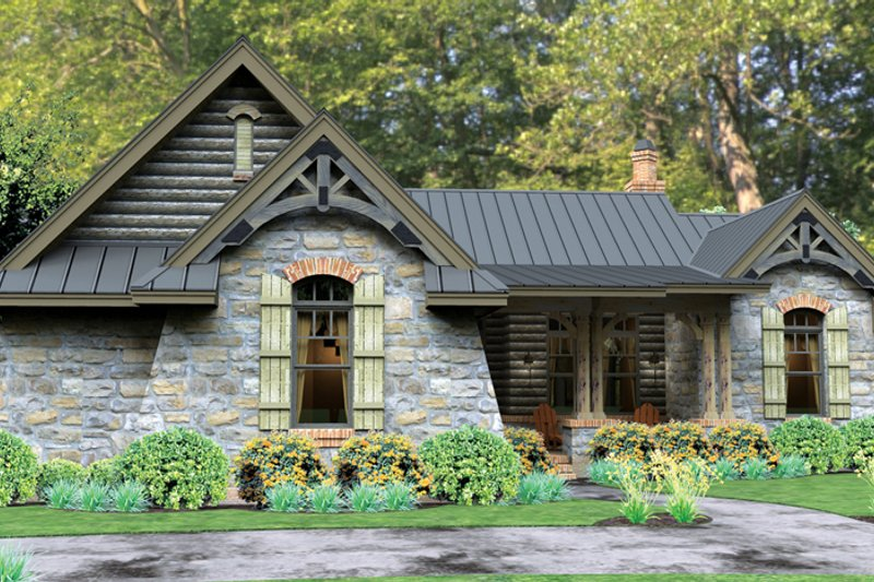 Home Plan - Bungalow Exterior - Front Elevation Plan #120-245