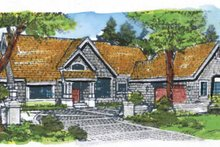 Dream House Plan - Craftsman Exterior - Front Elevation Plan #320-657