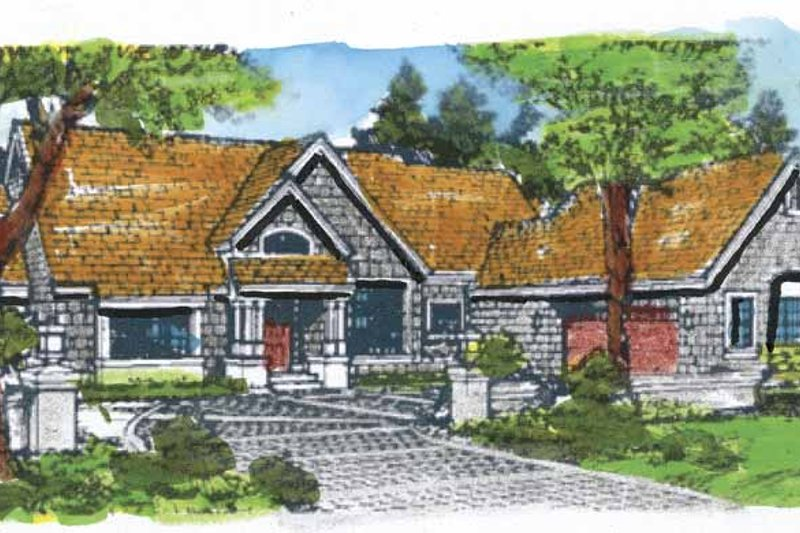 Craftsman Exterior - Front Elevation Plan #320-657