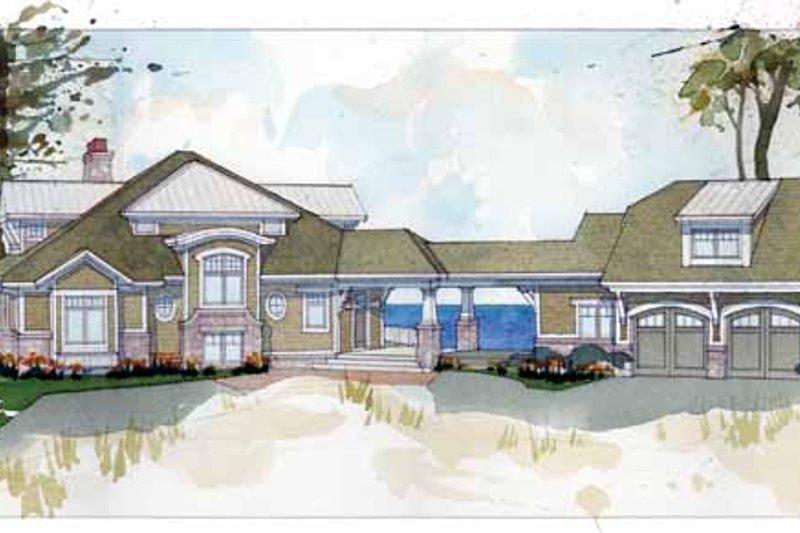 Architectural House Design - Craftsman Exterior - Front Elevation Plan #928-175