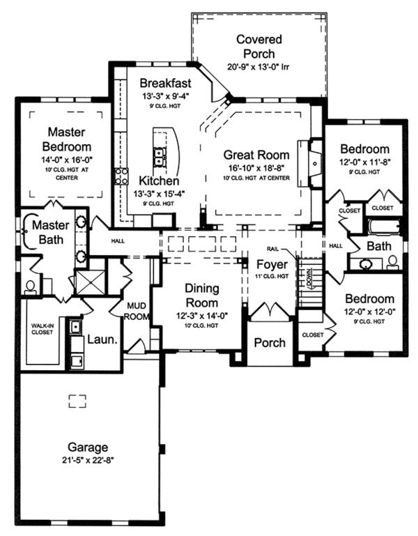 European Floor Plan - Main Floor Plan Plan #46-854