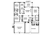 Mediterranean Style House Plan - 3 Beds 2 Baths 1684 Sq/Ft Plan #1058-4 Floor Plan - Main Floor Plan
