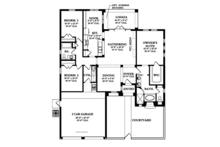 Mediterranean Floor Plan - Main Floor Plan Plan #1058-4