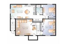 Colonial Floor Plan - Lower Floor Plan Plan #23-2522