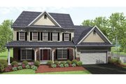 Colonial Style House Plan - 4 Beds 2.5 Baths 2593 Sq/Ft Plan #1010-37 Exterior - Front Elevation
