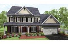 Colonial Exterior - Front Elevation Plan #1010-37