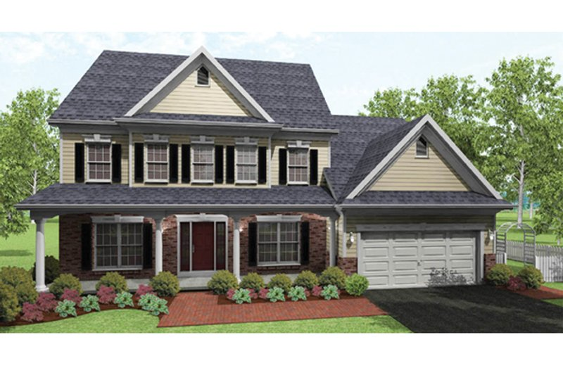 Home Plan - Colonial Exterior - Front Elevation Plan #1010-37