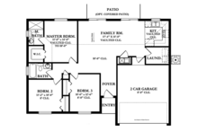 Ranch Floor Plan - Main Floor Plan Plan #1058-31