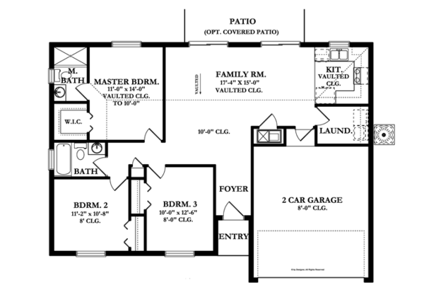 Ranch Floor Plan - Main Floor Plan Plan #1058-31