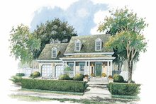 Architectural House Design - Colonial Exterior - Front Elevation Plan #429-236