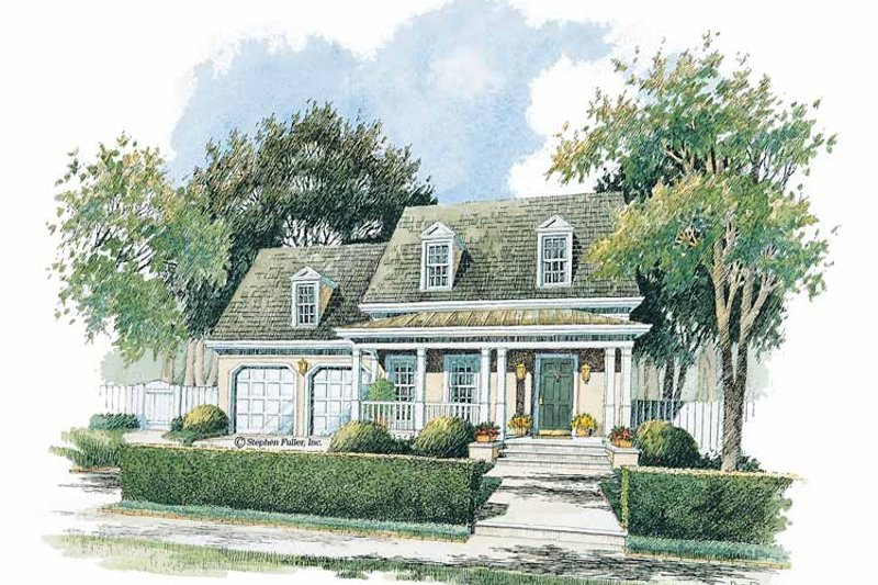 Colonial Exterior - Front Elevation Plan #429-236