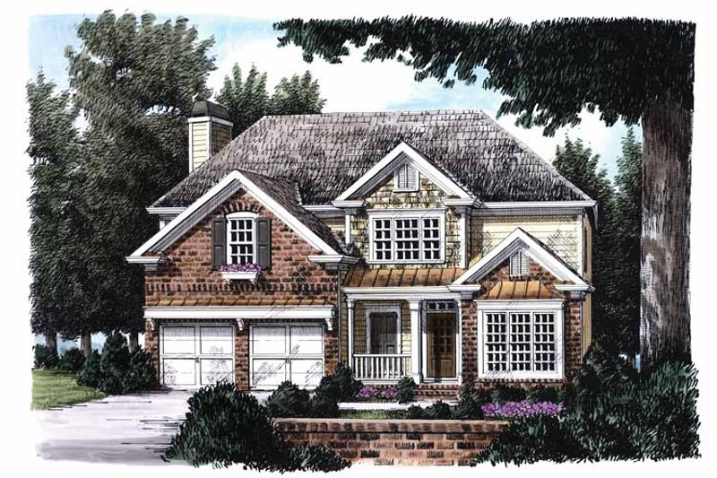 House Plan Design - Country Exterior - Front Elevation Plan #927-665