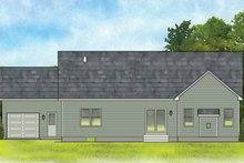 Ranch Exterior - Rear Elevation Plan #1010-183