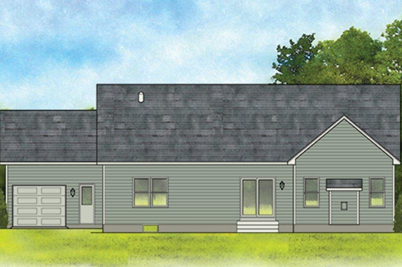 Ranch Exterior - Rear Elevation Plan #1010-183 - Houseplans.com