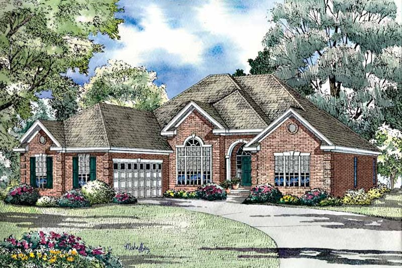 Ranch Exterior - Front Elevation Plan #17-3023 - Houseplans.com