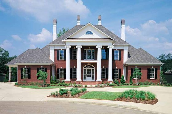 House Blueprint - Classical Exterior - Front Elevation Plan #45-413
