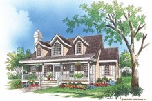 Architectural House Design - Country Exterior - Front Elevation Plan #929-200