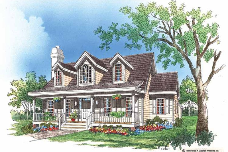 Home Plan - Country Exterior - Front Elevation Plan #929-200