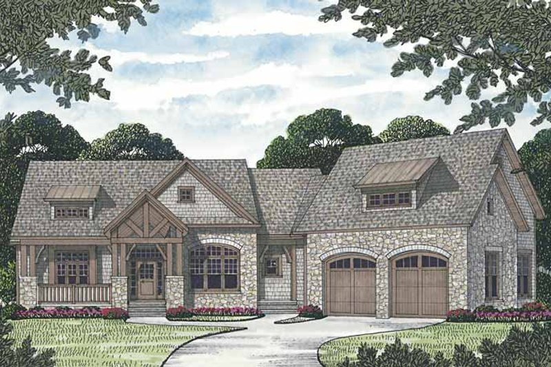 Craftsman Exterior - Front Elevation Plan #453-577