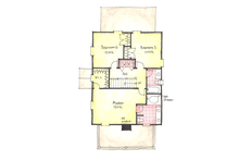 Colonial Floor Plan - Upper Floor Plan Plan #1053-38