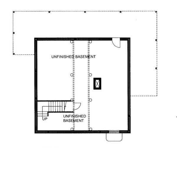 Log Floor Plan - Lower Floor Plan Plan #117-825