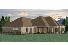 House Plan Design - Country Exterior - Rear Elevation Plan #937-13