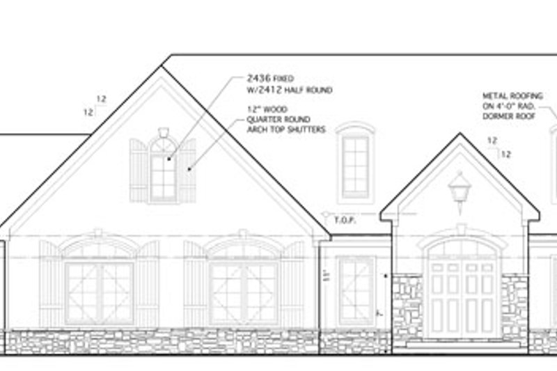 Country Exterior - Front Elevation Plan #1053-57 - Houseplans.com