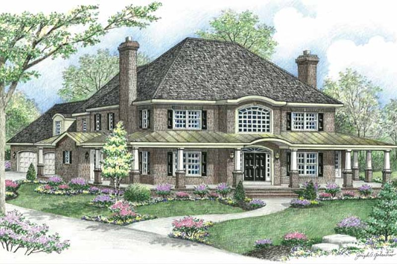 Country Exterior - Front Elevation Plan #1002-20