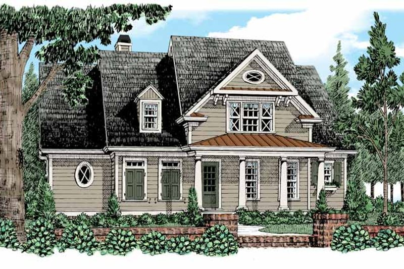 Craftsman Exterior - Front Elevation Plan #927-526