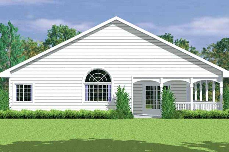 Country Exterior - Rear Elevation Plan #72-1081 - Houseplans.com